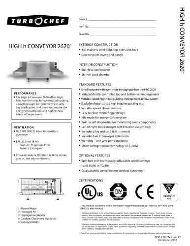 High h Conveyor 2620