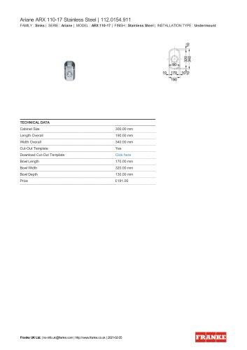 Ariane ARX 110-17 Stainless Steel | 112.0154.911
