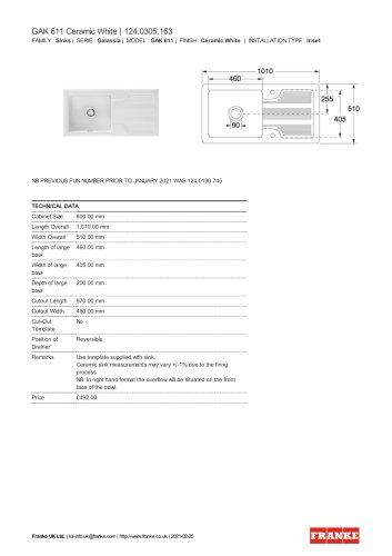 GAK 611 Ceramic White | 124.0305.163