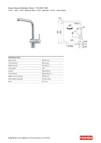 Swivel Spout Stainless Steel | 115.0547.856