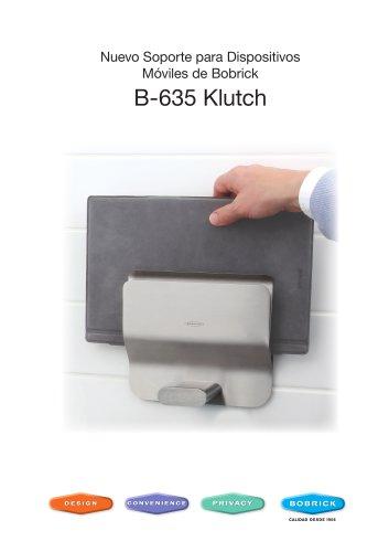 B-635 Klutch Soporte para Dispositivos Móviles de Bobrick