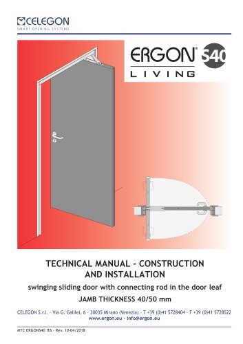 CELEGON - Ergon Living S40 - Technical Manual EN