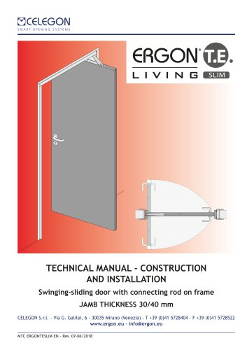 CELEGON - Ergon Living TE Slim - Technical Manual EN-rev7