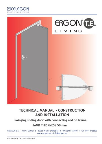 CELEGON - Ergon Living TE - Technical Manual EN-rev11