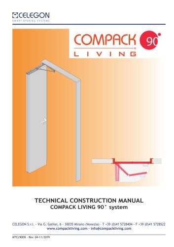 Celegon - Technical Manual Compack Living 90° - EN