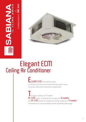 Elegant ECM Ceiling Air Conditioner