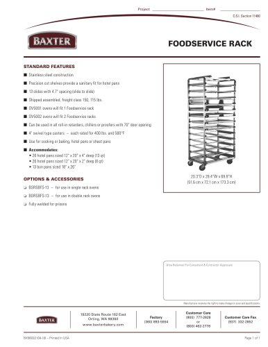 FOODSERVICE RACK