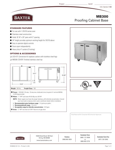 MB300 -  Proofing Cabinet Base