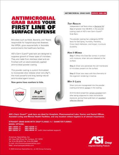 ASI Antimicrobial White Powder Coated Grab Bars