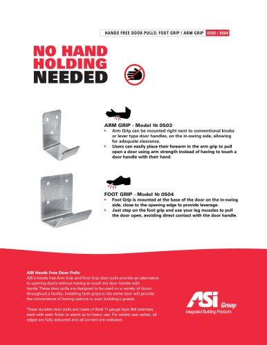 ASI Hands Free Arm & Foot Grip Door Pulls