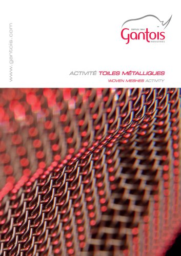 Catalogue toile metallique