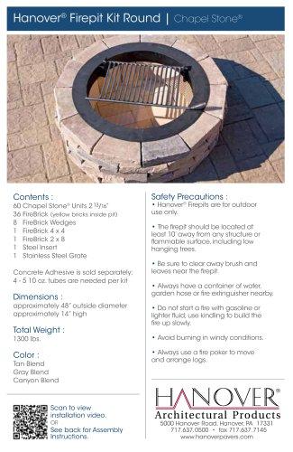 · Hanover® Firepit Kit - Round
