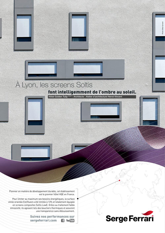Atelier D Architecture Hervé Vincent screen soltis 2013 - serge ferrari architecture - catálogo