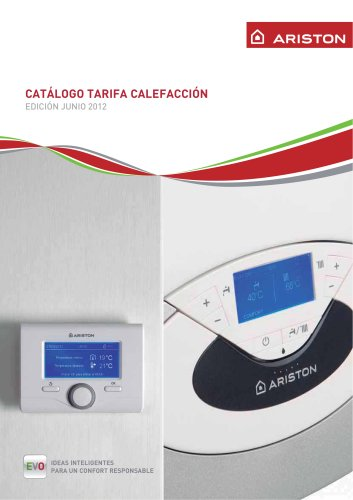 CATÁLOGO TARIFA CALEFACCIÓN IDEAS INTELIGENTES PARA UN CONFORT RESPONSABLE EDICIÓN JUNIO 2012