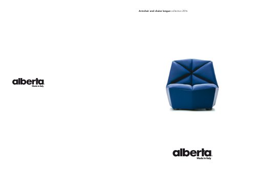Armchair and chaise longue collection 2016