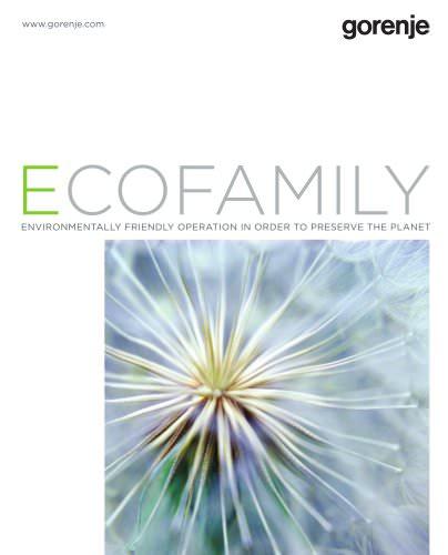 catalogue Gorenje Ecofamiliy