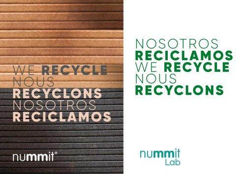 Mobiliario Vitrodeck, rmaterial reciclado