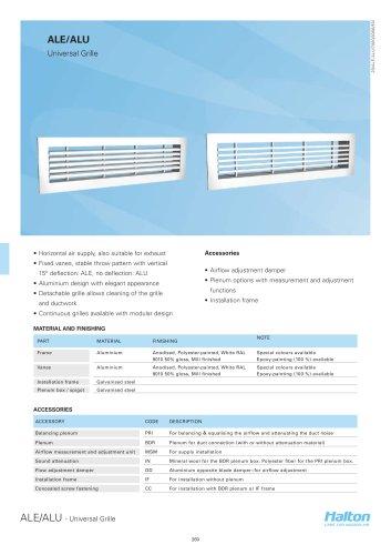 Halton - universal grilles