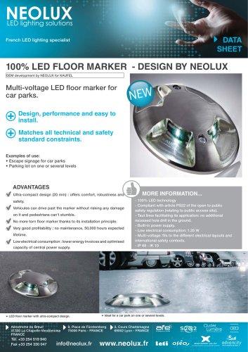 100 % LED floor marker - Design by NEOLUX