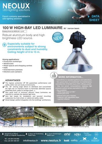 100W HIGH-BAY LED LUMINAIRE