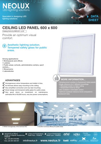 CEILING LED PANEL 600x600