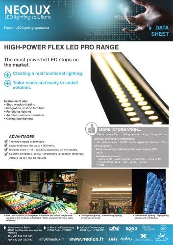High-power FLEX LED PRO RANGE