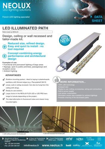 LED illuminated path