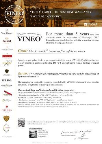 Wine market - LED light VINEO explanations