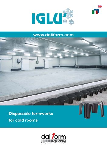 Disposable formworks for cold rooms