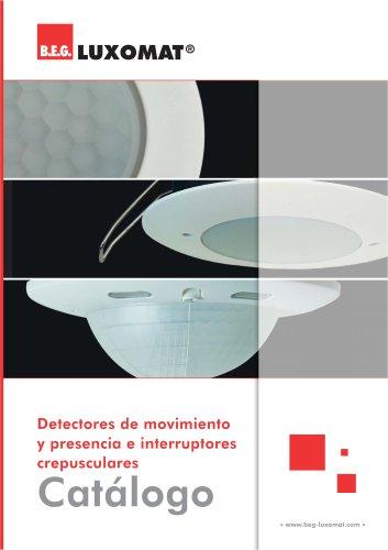 Detectores de movimiento y presencia e interruptores crepusculares