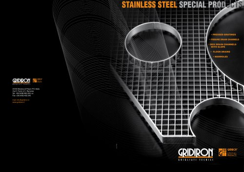 INDUSTRIAL-LINE Stainless Steel Products