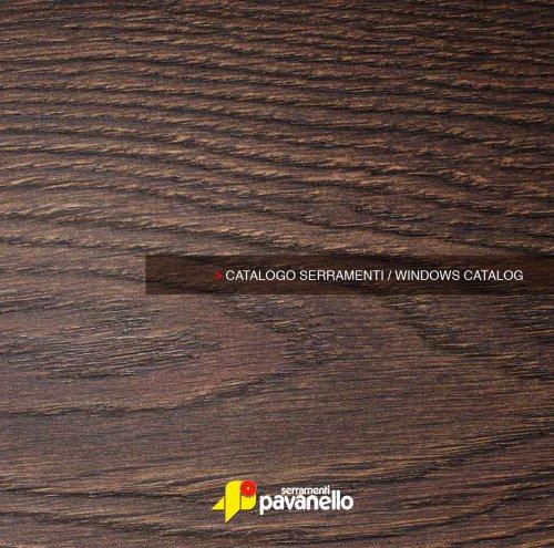 CATALOGO SERRAMENTI/WINDOWS CATALOG