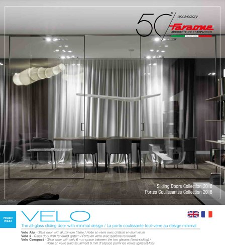 Catalogue Velo, Sliding Doors