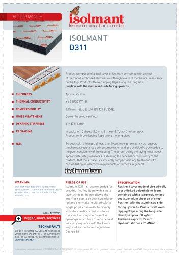 Isolmant D311