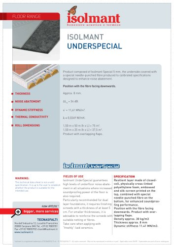 Isolmant UnderSpecial