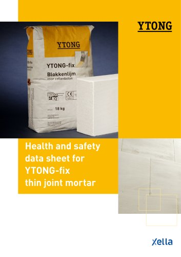 YTONG-fix (Health and safety data sheet for TONG-fix thin joint mortar)