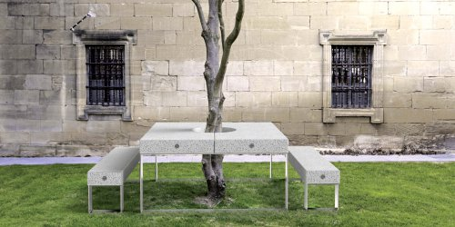 Alan bench and table
