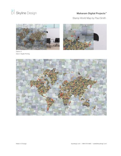 Stamp World Map by Paul Smith