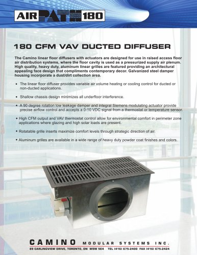 Vav Ducted Diffuser