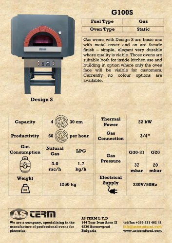 Gas Oven: G100S