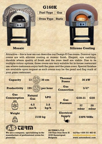 Gas Oven: G160K