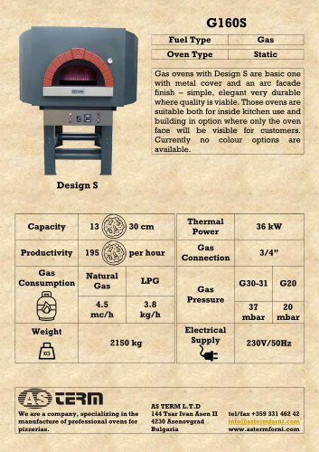 Gas Oven: G160S