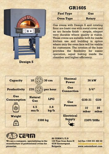 Gas Rotary Oven: GR160S