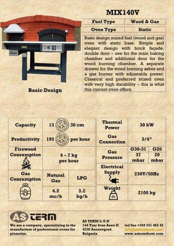 Wood & Gas Oven: MIX140V