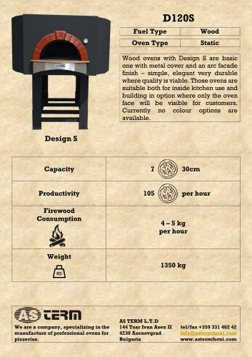 Wood Oven: D120S