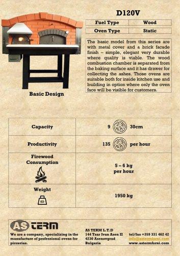 Wood Oven: D120V