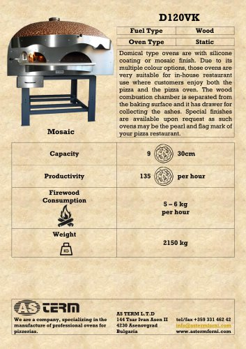 Wood Oven: D120VK