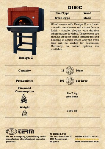 Wood Oven: D160C