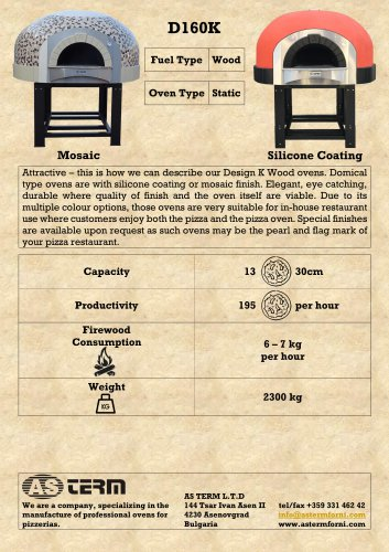 Wood Oven: D160K