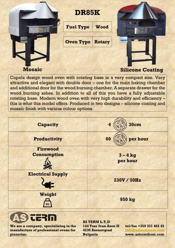 Wood Rotary Oven: DR85K